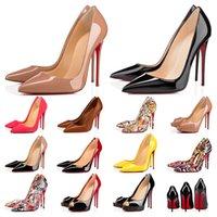 Tasarımcı Ayakkabı sneaker Yani Kate Stilleri Yüksek Topuklu Ayakkabı Kırmızı Altları Topuklu Lüks 12 CM 14 CM Hakiki Deri Noktası Toe Pompalar Kauçuk boyutu 35-42