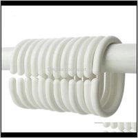 Pole 6480pcslot Kunststoff Duschvorhang Haken Ringe Bad Drape Schleife Schließe Home Vorhänge Kleiderbügel Großhandel LX0147 WPSAP Leagx