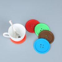 Кнопка PVC в форме чая коврик для термостойких термостойких нескользящих воздушных суставов круглые бутылки с водой прокладка кофе на напитком Placemat водонепроницаемый BH5009 TYJ