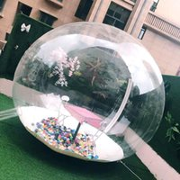 الخيام والملاجئ نفخ خيمة فقاعة شفافة 360 درجة قبة مع منفاخ الهواء التخييم المنتج عرض المنتج الإعلان EXH