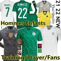 Son 2021 Cezayir Oyuncu Sürüm Futbol Formaları 19/20 Ev Maillot De Futbol Gömlek Mahrez Brahimi Bennacer 2 Yıldız Cezayir Erkekler Kids Kitleri