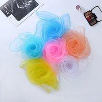Pequeño pañuelo cuadrado Color Sólido Rendimiento de la danza Berever New Candy-Coloree A prueba de viento Mujeres Seda Bufanda 60 * 60cm T2I52063