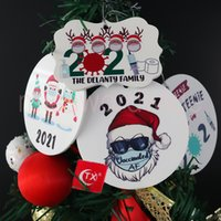 2021 Grinch 검역 호의 크리스마스 장식 크리스마스 매달려 장식품을 매달려 마스크 디자이너 ms11을 착용하는 나무 장식을위한 맞춤형