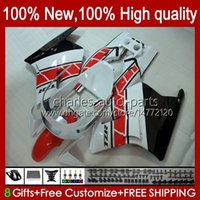 Bodys White red blk Kit For YAMAHA TZR-250 TZR 250 TZR250 R RS RR 88-91 Bodywork 31No.2 YPVS 3MA TZR250R 88 89 90 91 TZR250-R TZR250RR 1988 1989 1990 1991 MOTO Fairings