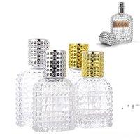 30 ml / 50 ml de cristal portátil Botella de perfume aceites esenciales difusores vacíos recipientes cosméticos atomizador botellas de aerosol para viajes al aire libre EWF6517