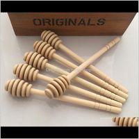 Altri centraimne ACCESSORI DI CUCINA DI TIFICHE 8cm Mini in legno Fornitura di feste Spoon Miele Jar Stick DH0172 QE3T9 BZVU8