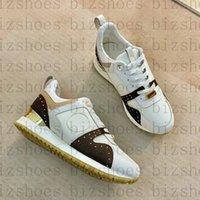Женщины Дизайнеры Обувь Цветочная буква Теленка Кожаный патентный патент Canvas Womans Повседневная обувь Техническая резина Бессол бежать кроссовки