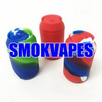 Latest 8ML Colorful Silicone Smoking Electronic Cigarettes Vape Portable Jars Shape Wax Oil Rigs Storage Tank Container Box Case Vaporizer Atomizer Holder DHL
