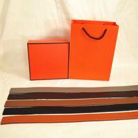 Cinturón de moda para hombre Mujer Casual Suave Reversible Cinturones de hebilla reversible genuina 5 Color Altamente calidad con caja