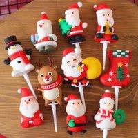 Weiche Santa Angel Puppe Elk Schneemann Weihnachtsbaum Socken Kuchen Dessert Tisch Stecker Dekoration Kinder Geschenke