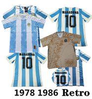 1986 الأرجنتين لكرة القدم جيرسي مارادونا 86 خمر كلاسيكي 1978 الرجعية ميسي لكرة القدم قمصان مايلوت camisetas دي فوتبو 20 21 22