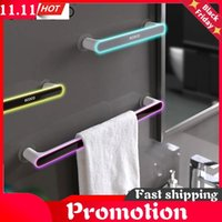 Bath Kitchen Towel Holder Punch-Free Bathroom Organizer Shelf Flip Flop Storage Rack Household Items Accessories Accessory Set