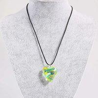 Лучшие продажи Murano вдохновленные спираль внутренний цветок прохладно прекрасное в форме сердца стекло подвеска ожерелье