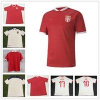 2021 Sérvia Soccer Jersey Home Vermelho 20 21 Srbija Branco Away Mitrovic Tadic Kolarov Sergej Matic Kostic Ivanovic Jerseys Football Camisas