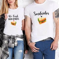 Women's T-Shirt Women Men Lovers Sweatshirt Couples Short Sleeve Tshirts WE FINISH EACH OTHER'S SANWICHES Couple Tees Christmas Casual