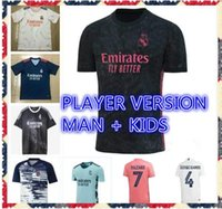 2021 2022 Real Madrid Fans Player Version Player Soccer Jerseys Modric Sergio Ramos Asensio Marcelo Valverde Shirt de football homme homme