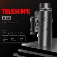 Telescope & Binoculars Professional Monoculars Powerful HD 50x60 With Lamp LightingHigh Power Monocular, BAK4 Dual Focus