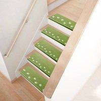 카펫 계단 매트 자체 접착식 스티커 스티커 가정용 미끄럼 방지 반복적 인 페이스트 카펫 (녹색)