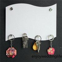 MDF Key Halter Hanging Board Sublimation Leere Hang Platten Flagge Form Bretter Benutzerdefinierte DIY Badezimmer Küche Zubehör Zoll HWA4587