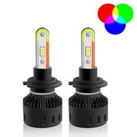 Fari dell'automobile H4 H7 9005 H11 LED Lampadine RGB Lampadine APP Bluetooth Lampada di controllo Bluetooth Multicolor fendinebbia per camion Auto Proteche