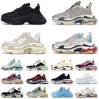 Triple S Paris 17FW Shoes Designer Sneakers Mens Womens All Black White Grey RED Pink Classic Luxury Designers Fashion Trainers Outdoor