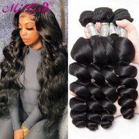 Human Hair Bulks Loose Wave Bundles 30 Inch Remy Extension 3 Deal Brazilian Virgin
