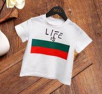 Çocuk Polo T Gömlek Tasarımcısı Çocuklar Kısa Kollu Bebek Polon Gömlek Erkek Tops Nakış Kız Pamuk Siyah Beyaz Giysiler 90-130 cm