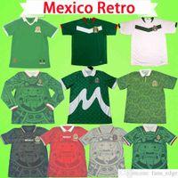 México 1998 Futebol Jerseys Retro Goleiro Vintage Camisa de Futebol Vintage Uniformes 1986 1994 1995 2006 Green Home Fora Branco Blanco Vermelho Preto