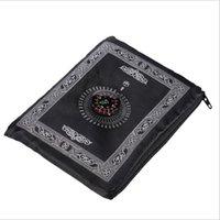 Islamische Gebet Teppich Tragbare Geflochtene Matte Teppiche Reißverschluss Kompass Decken Taschenppiche Muslimische Anbetung Decke GGA4610