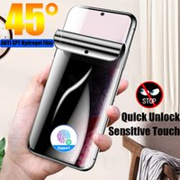 3D Curved Anti Spy Hydrogel Screen Protectors Film For Samsung Galaxy S21plus S20 Note20 Ultra Note 10 S10 S9 S8 Plus Privacy Anti-Peep