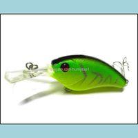 Sports Outdoors7 PCS Wobbler Hat Fish Bass Minnow приманка приманка приманка жесткие приманки пластиковые рыболовные крючки Topwater (CB013) Drop Доставка 2021 ELJ