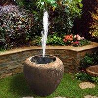 6 V 1W Pompa di fontana ad energia solare Bird Bird Bath da bagno Galleggiante Kit pannello acquatico per la decorazione del laghetto da giardino 210903