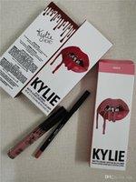 41 Renkler Kylie Jenner Ruj Dudak Parlatıcısı Lepliner Lipkit Velvetin Sıvı Mat Kitleri Kadife Lipgloss Makyaj Astar Kalem stokta KeyShadow