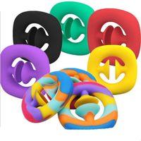 Привязка сенсорного пальца ручная ручная поддержка стресс resever игрушка взрослый ребенок смешной антистремистый фожир игрушки игрушки Snapperz Shooth Maker стресс с рельефной игрушкой Findge игрушка DHL