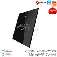 Smart Home Control EU US Tuya ZigBee RF Curtain Switch Remote Blinds Engine Roller Shutter Life App Timer Work With Aelxa Google