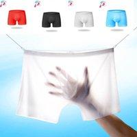 Underpants Summer Men's Boxers Underwear See-through Ice Silk Panties Men Male Transparent