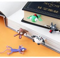 Accessories 3D three-dimensional animal bookmark student cartoon funny and exquisite Primary School Students learning lovely panda PVC creative gift