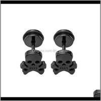 Jewelry High Quality Special Cute Skl Earring Stainless Steel Gothic Unisex Fake Ear Piercing Stud Earrings Drop Delivery 2021 Os05L
