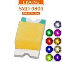 라이트 비즈 100pcs / 가방 SMD 0805 LED 레드 노란색 녹색 따뜻한 흰색 파란색 오렌지 방출 다이오드 DIY 키트 표시기