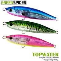 Spider Green - Crayon Flottant Flash, 90g, 146g, GT Stick, attirer la pêche en mer, l'appât de traînée, le thon, la basse de la mer, la production de crochet