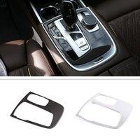 سيارة الداخلية التحكم المركزي الوسائط المتعددة مقبض الإطار تريم غطاء ملصق صالح ل BMW 7 سلسلة G11 G12 اكسسوارات السيارات