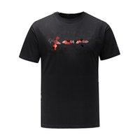 21ss Mektup Baskı Yansıtıcı T Gömlek Erkekler Kadınlar Siyah Beyaz Yaz Moda Rahat Sokak T-shirt Tasarımcı Graffiti Çizgili Tshirt