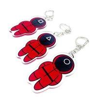 Designer keychain Brand key chain Squid game Acrylic Pendant Cosplay Li Zhengzai same