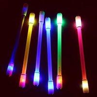 Bolígrafo bolígrafo giratorio giro girando la pluma para los niños ligeros colorido brillante led creativo flash flash juguete escolar suministros escolares
