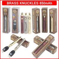 650mAh Brass Knuckles Battery Preheating Adjustable VV Voltage Vape Pen Batteries Charger Kit BK 510 Thread Cartridges 3 Colors