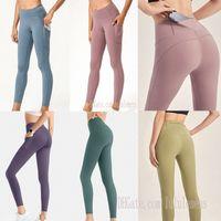 2021 Nuked Womens Yoga Lu Leggings TrackSuits Fitness Allinea Sport Esecuzione senza soluzione di continuità Tasca elasticizzata in vita alta 0102em7k #