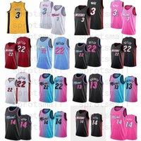 Dwyane 3 Wade Jimmy 22 Butler Basketball Jersey Mens BAM 13 ADEBAYO TYLER 14 HERRO CAMISETA CIUDAD