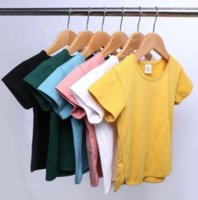 Baby Clothes Solid Short Sleeve T-shirt Soft Cotton Breathable Sleepwear Summer Blouse Clothes Kids Clothing 6 Colors