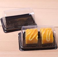 Packing Swiss Roll Plastic Boxes Transparent Clear Disposable Bread Cake Box Pastry Bakery Dessert Shop SN5652