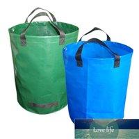 72gallon 용량 정원 폐기물 가방 내구성 재사용 가능한 방수 PP 야드 잎 잡초 잔디 컨테이너 저장